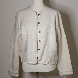 VTG Tan Boiled Wool Button-Up Jacket